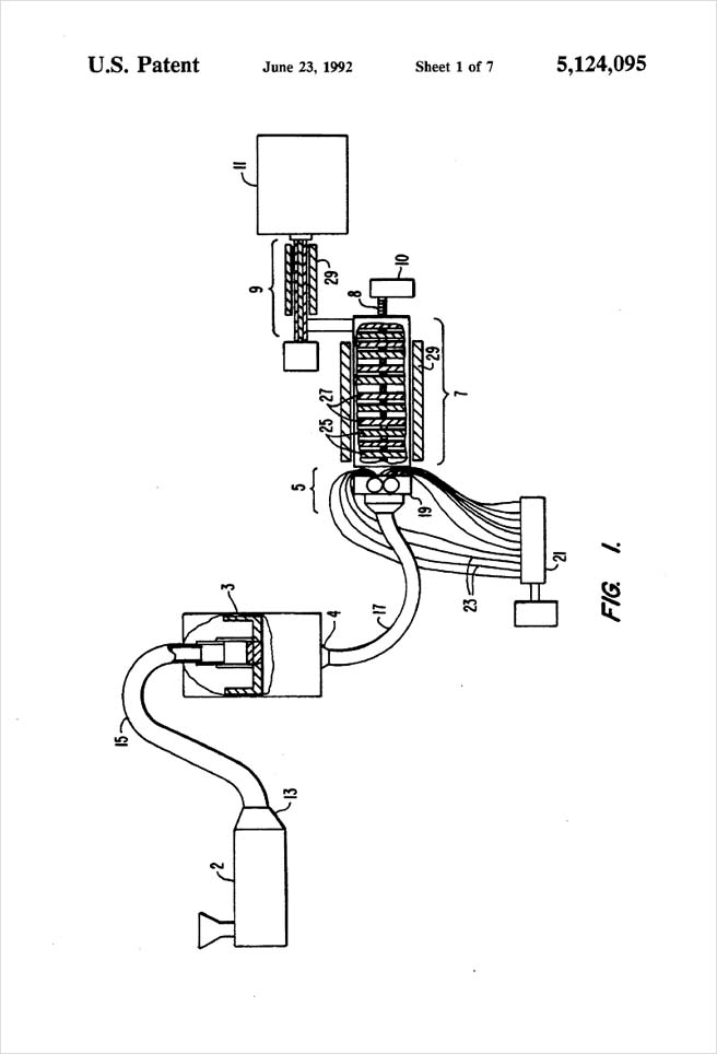 United States Patent 5,124,095 - Process of injection molding thermoplastic foams - Figure 1 by Michael H. Clement