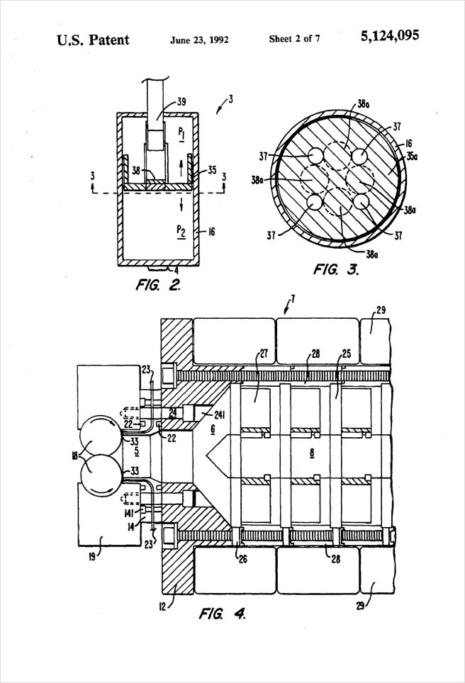 United States Patent 5,124,095 - Process of injection molding thermoplastic foams - Figures 2 through 4 by Michael H. Clement