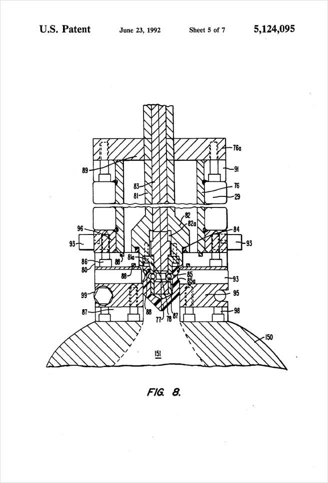 United States Patent 5,124,095 - Process of injection molding thermoplastic foams - Figure 8 by Michael H. Clement