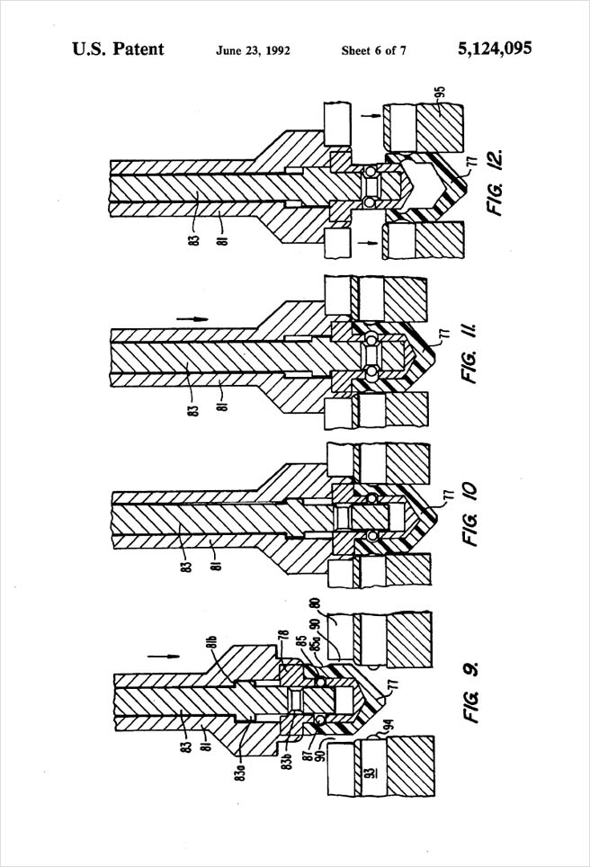 United States Patent 5,124,095 - Process of injection molding thermoplastic foams - Figures 9 through 12 by Michael H. Clement