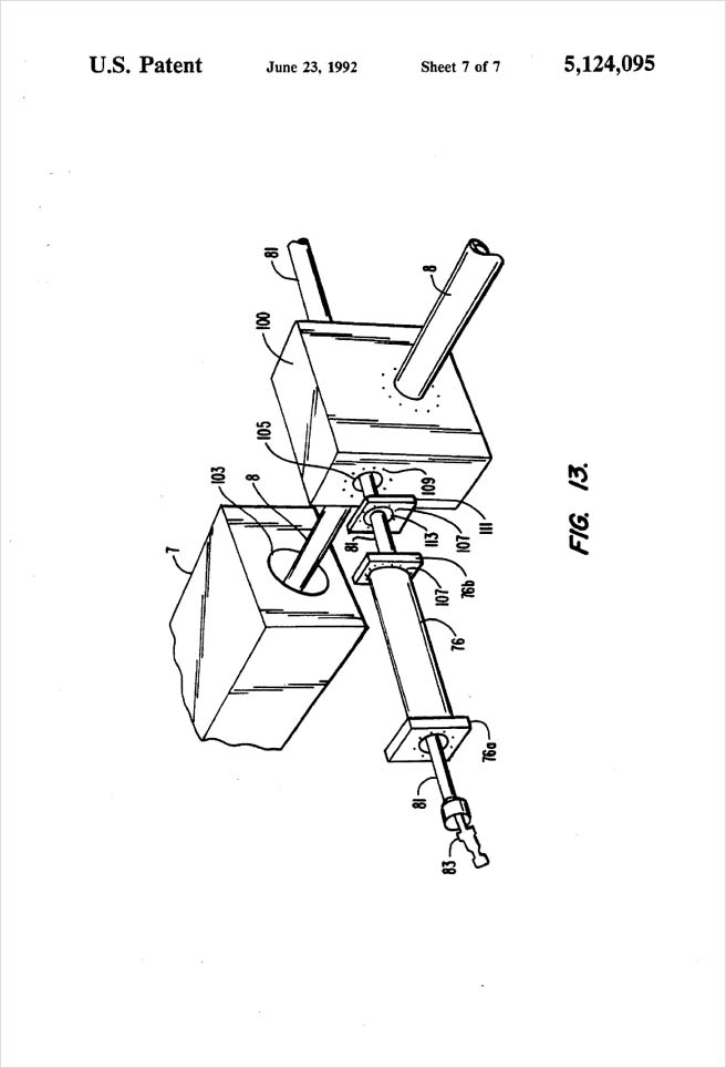 United States Patent 5,124,095 - Process of injection molding thermoplastic foams - Figure 13 by Michael H. Clement